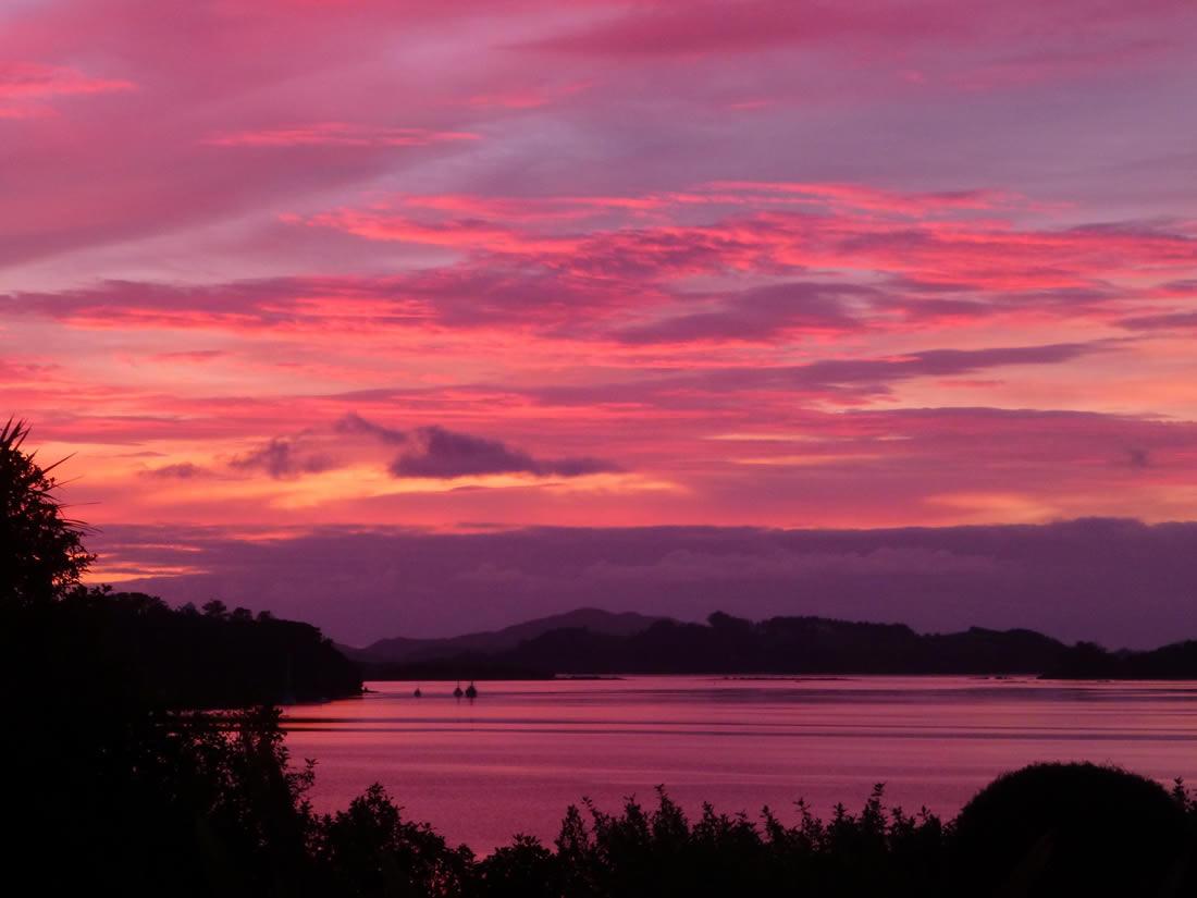 Aroha Island - stunning sunsets